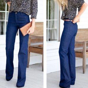 Tory Burch Wide Leg Jeans Size 28
